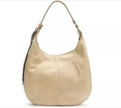 FRYE JACQUI HOBO Sand Smooth Pull Up Leather Purse Handbag Bag