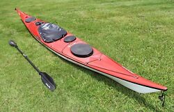 Valley Etain 17.5 Ocean Touring Kayak With Paddle And Car Mounts