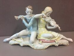 Hutschenreuther Selb Large Porcelain Figurine Sonate Musician Couple Carl Werner