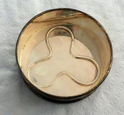 Sterling Silver Wine Bottle Coaster - 4.5 Diameter In Great Unused Condition.