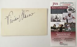 Vivian Blaine Signed Autographed 3x5 Card Jsa Certified Guys And Dolls