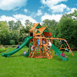 Gorilla Playsets Great Skye II Cedar Wood Swing Set Playground Outdoor Playset