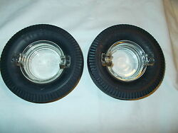 2 Vintage Firestone Tire Ashtray's Read's The Best By Miles Tire's Are Soft