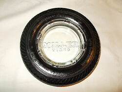Vintage Miller Tire's Ashtray No Chips Or Cracks Ashtray Is In Mint Condition