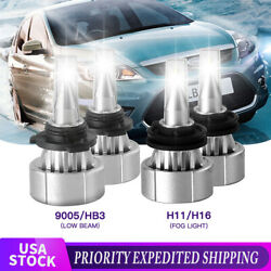 4x H16 H11 9005 LED Headlight Kit Fog Bulb LOW Bulb For Toyota Highlander 17-15