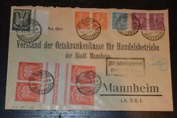 Germany - Flown Cover - Scott Nos 228 C15 Gutter Pairs -used- Aps Certificate