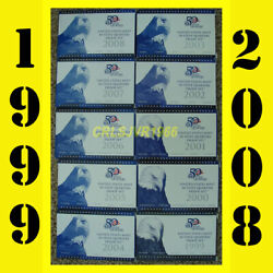 10 United States Us Mint 50 State Quarters Proof Sets 1999-2008 With Coa's