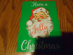 Lot Of 4 Santa Claus Glitter With Vintage Look Christmas Cards