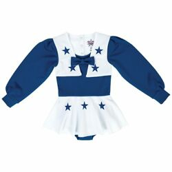 Dallas Cowboys Nfl Baby Girl Cheerleader Uniform Bodysuit, Size 3t, New With Tag