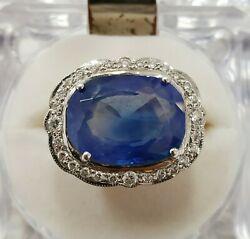 Kashmir Blue Sapphire 13.33 cts Natural Gubelin Certified Loose Gemstone