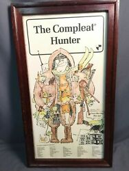 The Compleat Hunter Winchester Shotgun Shell Vintage Display Advertisement Usa