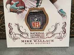 National Treasures Century Materials NFL Shield Dolphins Mike Wallace  11  2013