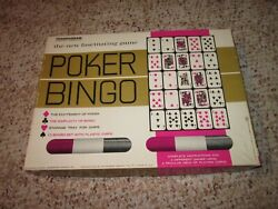 Vintage Transogram Game 5010 Poker Bingo 1963 Board And Traditional Games