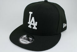 NEW ERA 9FIFTY BASIC SNAPBACK HAT CAP MLB LOS ANGELES LA DODGERS BLACK ADULT MEN