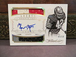 Panini Flawless Gold Autograph Jersey Greats 49ers Auto Ronnie Lott 05/10 2014
