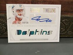 National Treasures Timeline Jersey Autograph Dolphins Ryan Tannehill 09/10 2013