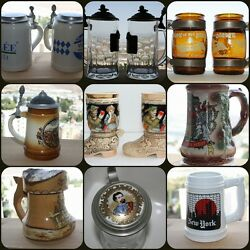 Collectible Beer Stein Mug Tankard Pint Jar Can Drinkware Breweriana And Others