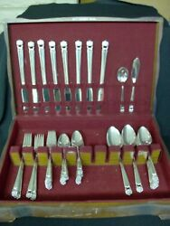 1847 Rogers Bros Eternally Yours 52 Piece Set Service For 8 Plus Extras