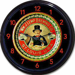 Wm J Lemp Brewing Co St Louis Mo Beer Tray Wall Clock Ale Lager Brew New 10