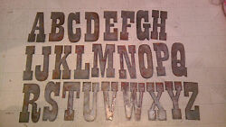 Complete Alphabet 12 Rusty Metal Vintage Western Letters Stencil Sign Crafts