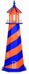 Amish Crafted Wood Garden Lighthouse - Sports Team Colors - New York Mets