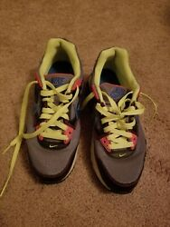 Nike Air Shoes Gray With Lime Green Shoe Laces - Size 6y