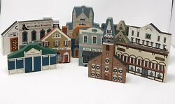 Lot Of 13 The Cats' Meow Series Collectibles Vintage Buildings 1986 - 1995