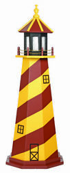 Amish Crafted Wood Garden Lighthouse - Sports Team Colors - Washington Redskins