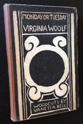 Virginia Woolf / Monday Or Tuesday First Edition 1921