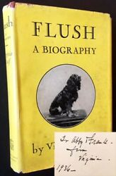 Virginia Woolf / Flush A Biography Signed 1935