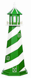 Amish Crafted Wood Garden Lighthouse - Sports Team Colors - New York Jets