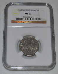 1963f Germany Federal Republic German Mark Graded By Ngc As Ms62