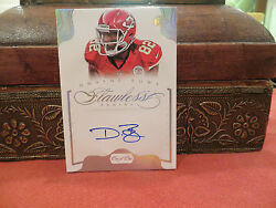 Panini Flawless On Card Autograph Chiefs Dwayne Bowe 1/1 One Of One 2014