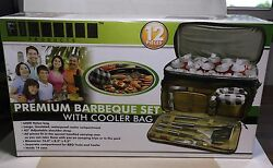 New Premium Finelife 12 Piece Barbeque Set With Cooler Bag