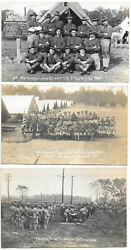 Michigan Co E, 2nd Regiment National Guard C1910, Collection Of 7 Real Photo Pc