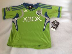 New Youth Adidas Mls Soccer Futbol Seattle Sounders Fc Xbox Jersey Large 7
