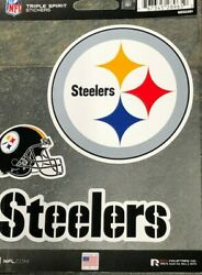 Triple Spirit Stickers -three Pack - Pittsburgh Steelers - Excellent Quality