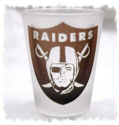 Oakland Raiders Frosted Shot Glass