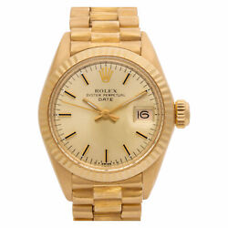Rolex Date 6916 18k yellow gold dial 26mm Automatic watch