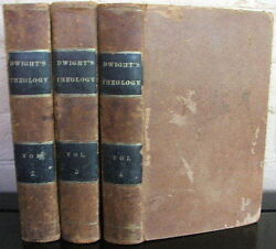 Theology Explained And Defended. By T. Dwight 3 Vols. 1843 Leather
