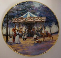 Carousel Memories By Sandi Lebron Collector Plate