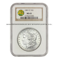 KEY DATE 1889-CC $1 Morgan Silver Dollar NGC MS65 PQ Gem Graded ONLY 1 FINER