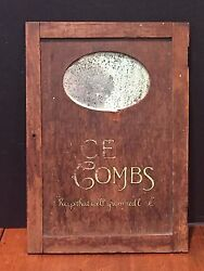 Antique Ace Combs Store Display Advertising Mirror Sign