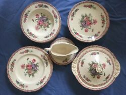 Nancy Royal Staffordshire Dinnerware By Clarice Cliff Made In England Plates Bow