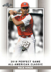 10 Ct Lot 2018 Rece Hinds Leaf Perfect Game Nike Aa Classic Aflac Limited-ed Sp
