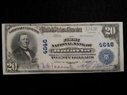 1902 20 National Currency First National Bank Of Batavia Illinois
