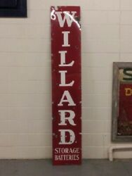 Original Porcelain Gas Oil Sign 8and039 Willard Battery Willard Batteries Can Ship