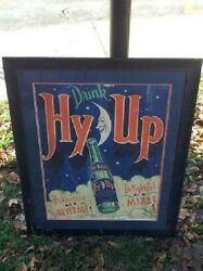 Very Rare Art Deco Hy Up Cola Soda Sign Not Coke Pepsi 7up Just Cool