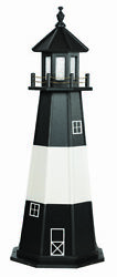 Amish Made Poly Garden Lighthouse Tybee Island - Size And Lighting Options