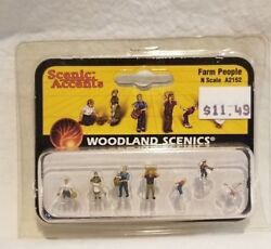 Sealed Woodland Scenics N-scale Scenic Accents Figures - A2152 Farm People